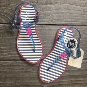 Toddler Girl Ahoy Nautical Jelly Sandals
